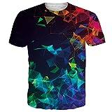 Newistar - Camiseta unisex de manga corta informal para verano con impresión 3D Funky1 L