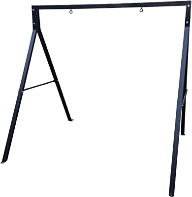 Sparkling Line 864784000317 Outdoor Double Holders Swing Frame, Black