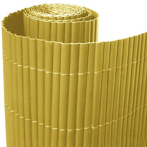 ITALFROM Arelle in Stuoia Canna Bamboo Arella PVC Singola Naturale Recinzione Separè Rotolo H 200 X 300 cm 4995