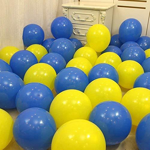 Erosion 60 STÜCKE 10-Zoll-Runde Royal Blue Yellow Balloon, Abschlussfeier, Schulparty, Minion Party, Hochzeit, Kinder Geburtstag Versorgung,