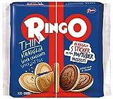 Pavesi Biscotti Ringo Thin Vaniglia, Snack per Merenda o Pausa Studio, Senza Olio di Palma - Confezione da 6 X 39g