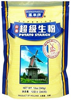 Holland Windmill Superior Potato Starch, 340g (Pack of 1) 荷兰风车牌超級生粉