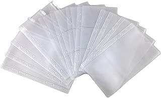 Honbay 12pcs 3 Types A6 Binder Pocket 6 Holes Business Card Storage Bag Loose Leaf Notebook Filler Organizer Zipper Bag Bill Pouch