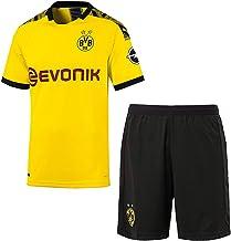 KINDERS Trikot Jungen Reus 11 Sancho 7 Borussia Dortmund BVB Heimtrikot Kinder Saison 2019//2020 Trikot Set Heim//Ausw/ärts Fussball Trikot Mit Shorts und Socken