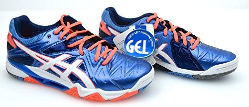 Asics GEL-Sensei 6 Damen B552Y 4701 Volleyballschuhe blau (US 8.5)