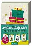 Adventskalender: 24 Geschenktüten zum Selbstgestalten: 24 Papiertüten & 6 Stickerbögen