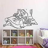 Alicia en el país de Las Maravillas Princesa Pared calcomanía durmiendo Princesa Durmiente decoración del hogar Pegatinas de Pared Arte niñas decoración de la habitación