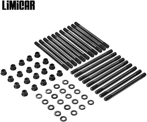 LIMICAR Cylinder Head Stud Set For 2003-2007 Ford F250 F350 Super Duty 2003-2005 Ford Excursion PowerStroke 6.0L Turbo Diesel 250-4202