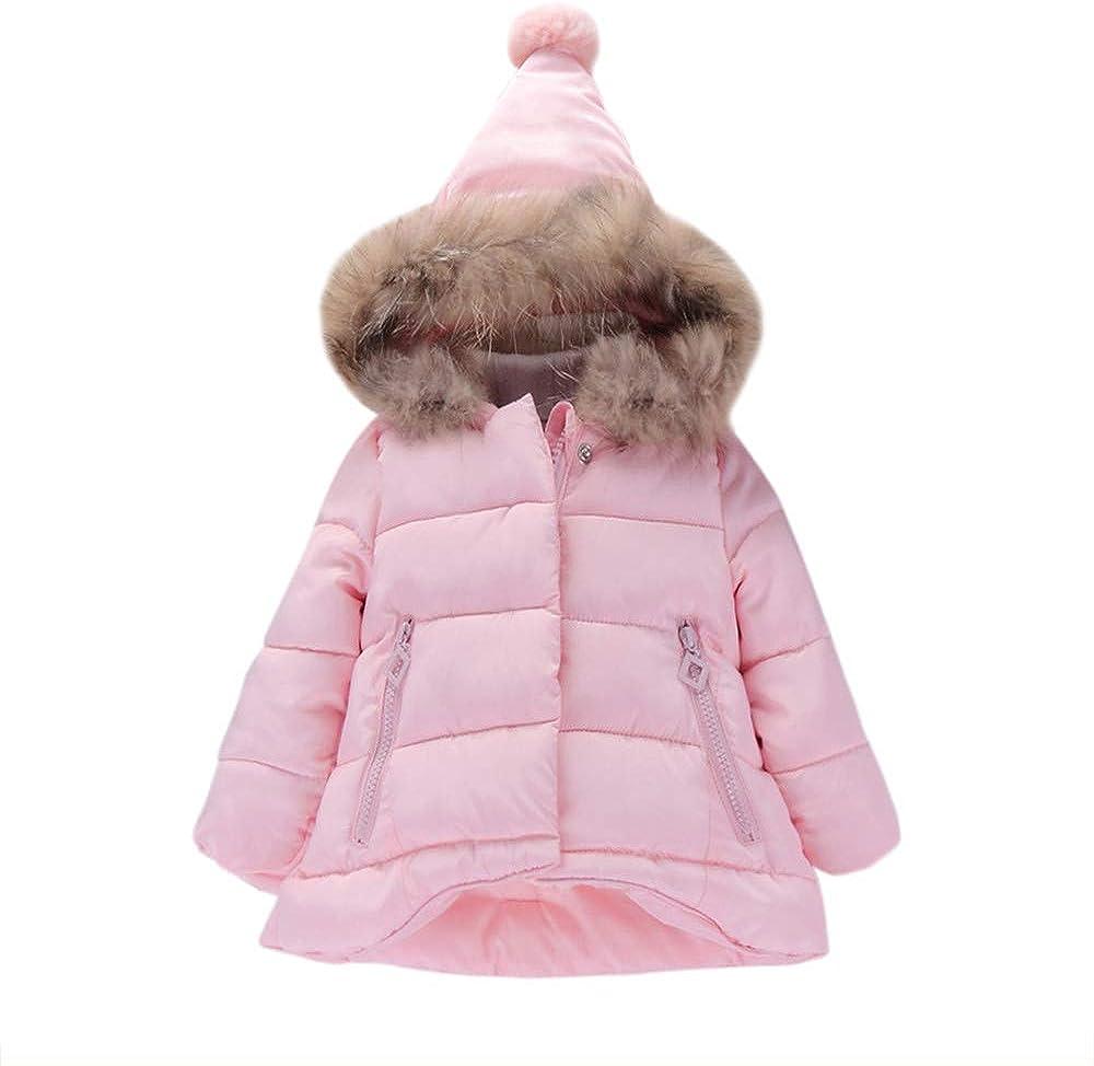 Zhen Baby M/ädchen Winter Mantel Daunenmantel f/ür 0-5 Jahre M/ädchen Kinder Outdoor Jacke mit Kapuzen Punkt Druck Mantel Warme Coat Windjacke Winterjacke Verdicken Mantel
