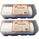 Queso Rulo de Cabra - Peso del Producto 1 Kilo por Unidad - Queso de Cabra Alto en Nutrientes - Producto con Bajo Contenido en Grasas - Ideal para Ensaladas (2 Rulos de Cabra)