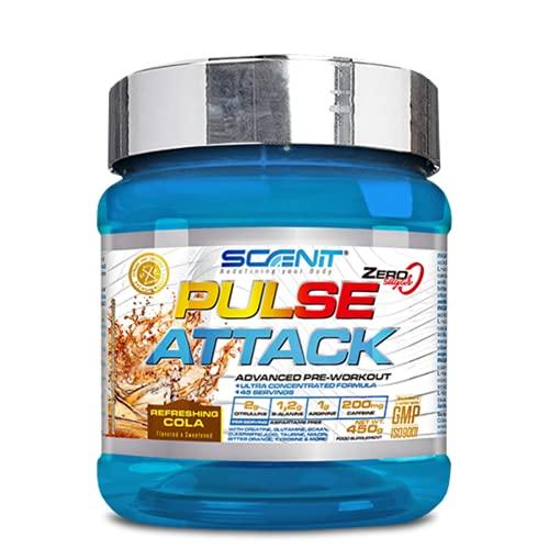 Pulse Attack | 450 g | Potente pre entreno | Pre workout con arginina, beta alanina, citrulina, creatina, taurina (Cola)