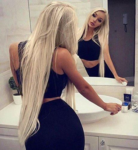 Vebonnie Blond Lace Front Perücken synthetische Perücken 22''