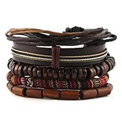 Designed for personal wearing or to be the christmas, halloween, birthday, anniversary gifts for father, mother, friends, lovers, couples, motorcyclists bikers, tattoo fans... or just yourself Unisex multilayer fashion bracelet Dimension:Length Adjus...