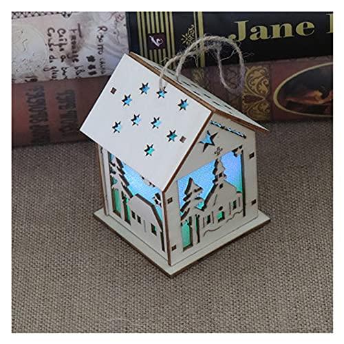 PYBH LED-Weihnachtshaus handgefertigte montieren DIY Handwerk pädagogisches Spielzeug für Kinder blinkendes holzhaus Kinder Weihnachten heimendekoration (Farbe : House)