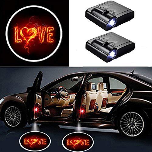 MIVISO 2 Stück Autotür Einstiegsbeleuchtung Projektion Türeinstiegbeleuchtung Autotür Logo Licht Willkommen Projektor Logos Licht Geist Schatten Lampe für Auto