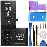 DEJIMAX Batterie de Plus Haute Capacité pour iPhone X, 3210mAh Nouveau 0 Cycles Li-ION Polymer...