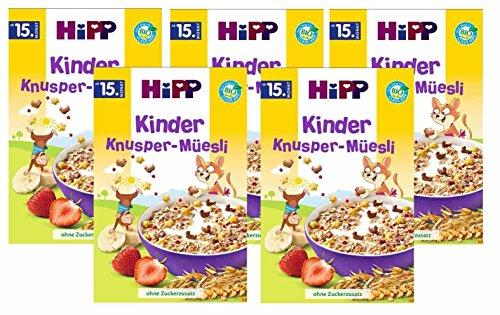 Hipp Kinder Knusper-Müsli, 5er Pack (5 x 200g)