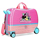 Disney Minnie Pink Vibes Maleta Infantil Rosa 50x38x20 cms Rígida ABS Cierre combinación 34L...