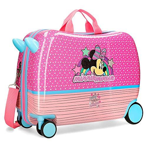 Disney Minnie Pink Vibes Maleta Infantil Rosa 50x38x20 cms Rígida ABS Cierre...
