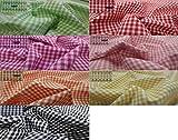 Fabrics-City PATCHWORK DRUCK BAUMWOLLSTOFF VICHYKARO