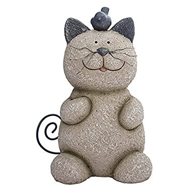 Whiskers the Cat Statue - Bring a Bit of Whimsy to Your Patio or Garden