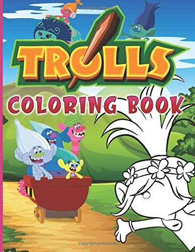 Trolls Coloring Book: Confidence And Relaxation Trolls Mini Coloring Books For Adults, Teenagers (A Perfect Gift)