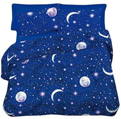 trapunta estiva matrimoniale copriletto trapuntato imbottito stampa blu notte stellata universo imbottitura 100 grammi