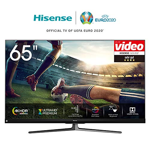 Hisense 55U8QF 139cm (55 Zoll) Fernseher (4K Ultra Premium HD,Quantum Dot, HDR10+, Dolby Vision&Atmos, WCG, Full Array Local Dimming, 120Hz Panel, USB-Recording, JBL sound)