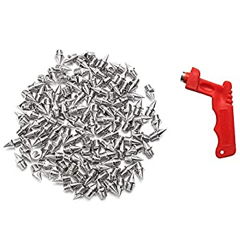 AUGSUN 110pcs 1/4inch Stainless Steel Track and Cross Country Spikes with Spike Wrench Replacement Spikes for Sprint Sports Short Running Shoes