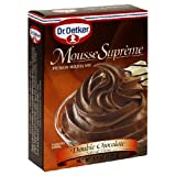Oetker Double Chocolate Mousse, 4.2-Ounce Boxes (Pack of 12)
