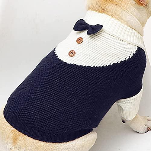 Hundepullover Strickwolle Haustier Pullover Winter Warmer Weste Mantel Hund Katzenpullover Rollkragen Kleidung Haustiermantel für Kleine und Mittlere Hunde Teddy Chihuahua Shiba Dachshund Bulldog
