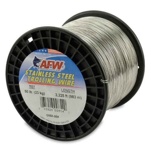 American Fishing Wire Stainless Steel Trolling Wire, 50-Pound...