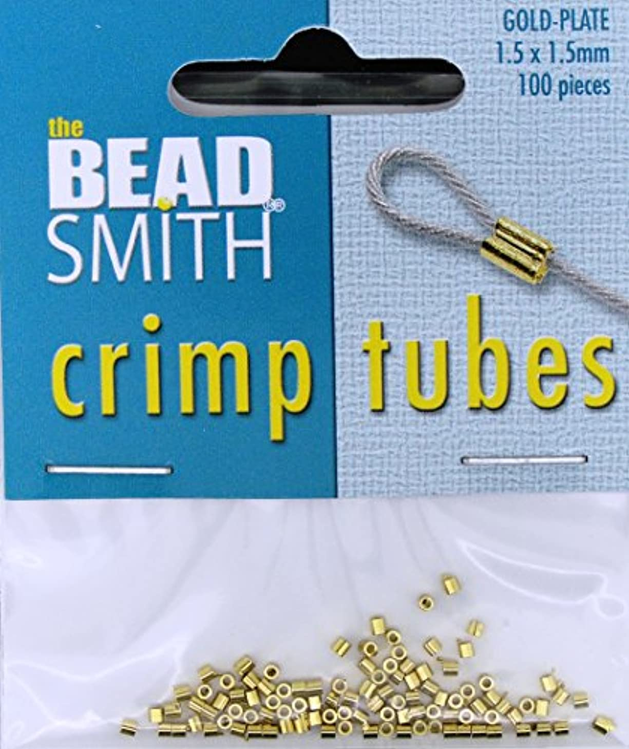 Real Gold Plated Crimp Beads 1.5 X 1.5mm (100 Crimps)