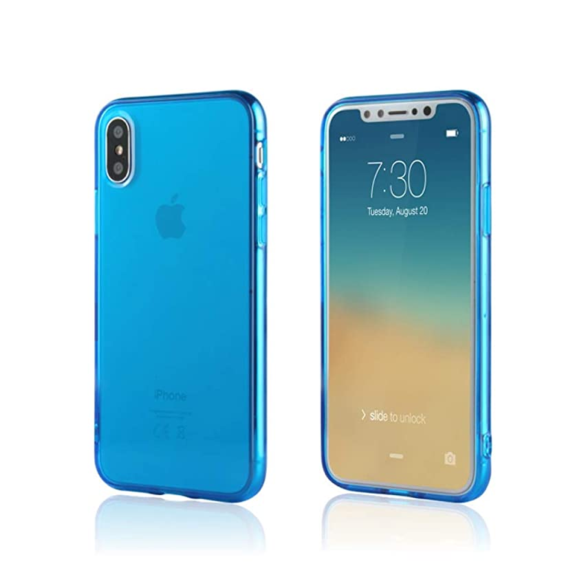 iPhone XS & X Case / Slim & Soft Transparent Blue Cover for iPhone XS (2018) and X (2017) / Soft Flexible & Stylish Colors Compatible with all 5.8 inch X/XS models (Blue, X/XS 5.8