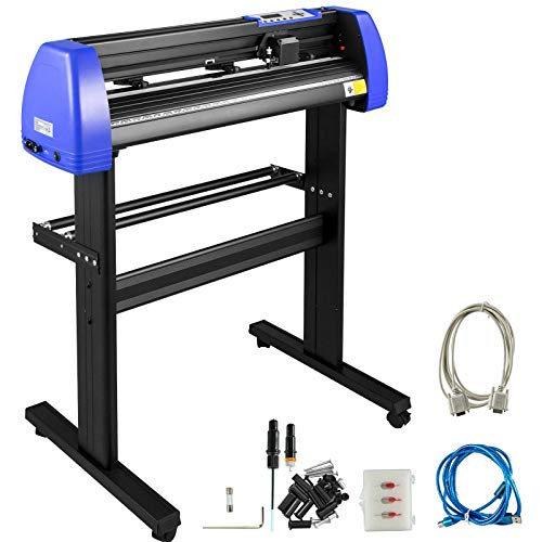 VEVOR Vinyl Cutter 28 Inch Vinyl Cutter Machine with 20 Blades Maximum Paper Feed 720mm Vinyl Plotter Cutter Machine with Sturdy Floor Stand Adjustable Force and Speed for Sign Making