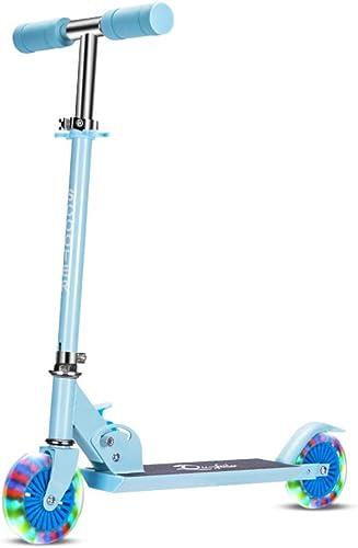 Kinder Scooter,3-Rad Scooter,Mit Einstellbarer H  Lean, Steuern Blinkende R r Extra Breite Deck Für 6 Jahre Kinder