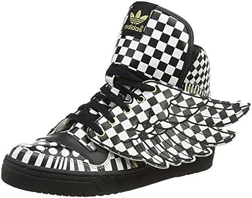 adidas Jeremy Scott Herren Turnschuhe JS WINGS OPART SchwarzWeiß G95768