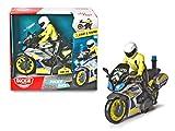 Dickie Toys Bicicletta da Poliziotto Yamaha per Moto, Frizione, Luce, Suono, Polizia Mobile, 17 cm, Colore: Blu/Giallo/Argento, 203712018