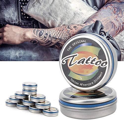 Gel reparador de cicatrices para tatuajes, ungüento profesional en crema para la recuperación de tatuajes, cuidado posterior para tatuajes, crema curativa, cuidado hidratante para la piel después de l