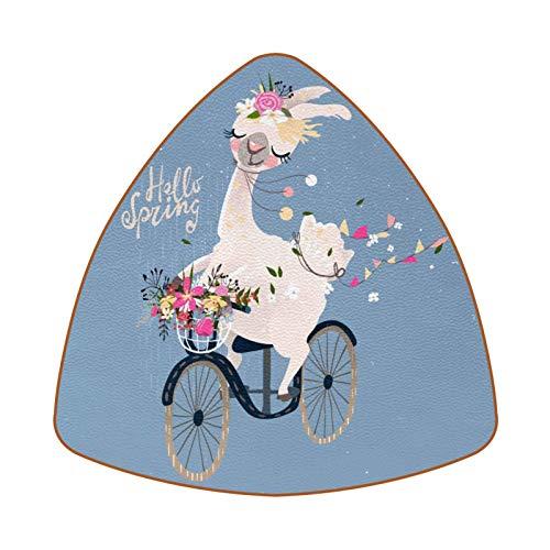 Floral Bicycle Alpaca Ride Bike Juego de 6 Posavasos para Bebidas para el hogar, Taza, Botella, Taza, café, Cerveza