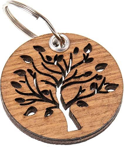Lebensbaum Schlüsselanhänger Holz Eiche