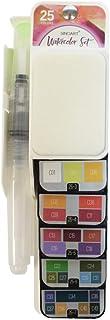 Sinoart Tinta Aquarela Paleta em Leque 25 Cores, Colorido