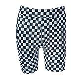 Photo de BOLAWOO-77 Femmes Noir Et Patchwork Haute Taille Élastique Shorts Kinny Mode Chic Pantalon De Yoga Femme Taille Haute Shorts Assorted (Color : Colour, Size : L)