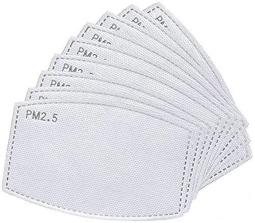 50 unidadesfiltros de carbón activado PM2.5 5 capas reemplazables de papel de filtro antiniebla
