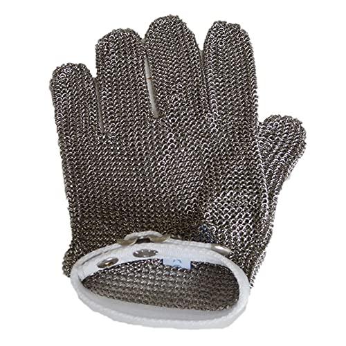 guantes anticortes Guantes de la Cadena, Guantes de Trabajo de Carnicero, obtención de Guantes de Metal de Acero Inoxidable Antideslizante (Size : XL)