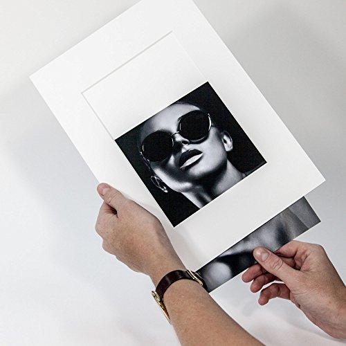 Passepartout Präsentation Reinweiß Rückwand - Foto Einschub - Aufbewahrung - Archivieren - Präsentieren - Museumsqualität - Klapp (Außen: 18x24cm - für Foto: 10x15cm)