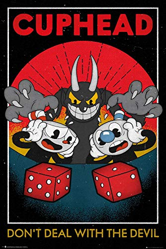Poster Cuphead Craps - Don't Deal with The Devil (61cm x 91,5cm)