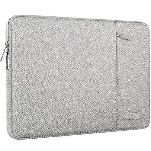 MOSISO Laptop Sleeve Bag Compatible with MacBook Air 13 inch 2018-2021 A2337 M1 A2179 A1932, MacBook Pro A2338 M1 A2289 A2251 A2159 A1989 A1706 A1708, Polyester Vertical Case with Pocket, Gray