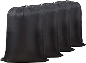 SHAREWIN Large 100% Nylon Laundry Bag Laundry Hamper Ideal for Apartments, Travel, Dorm Rooms or Vacations, 4 Pack
