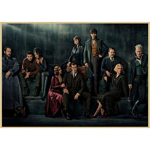 Fantastic Beasts And Where To Find Them Klassisches Filmposter Bar Cafe Wohnzimmer Dekoratives Poster rahmenloses Gemälde 40 x 50 cm (E0826)